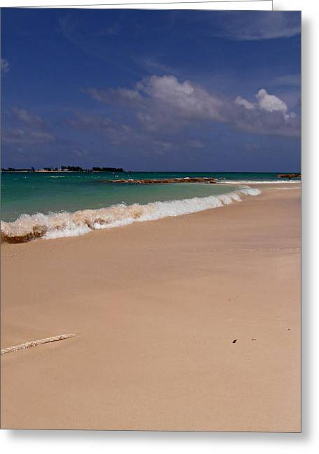 Cable Beach Bahamas Greeting Card by Kimberly Perry