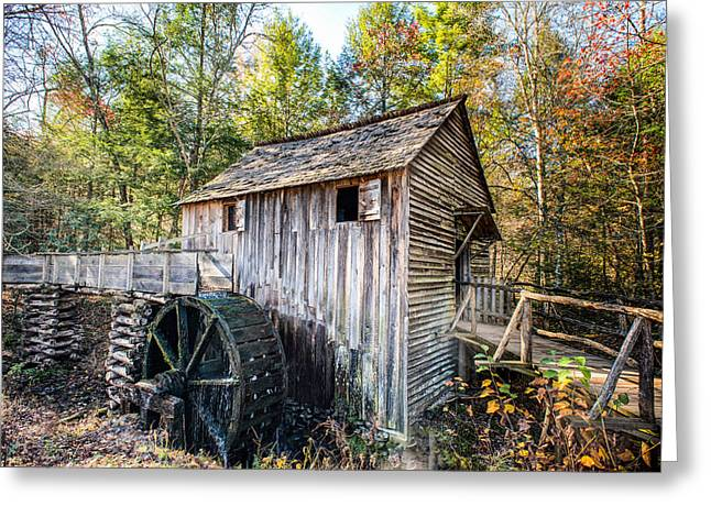 Cable Grist Mill At Cades Cove Greeting Card