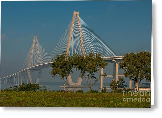 Cable Stayed Bridge Greeting Card