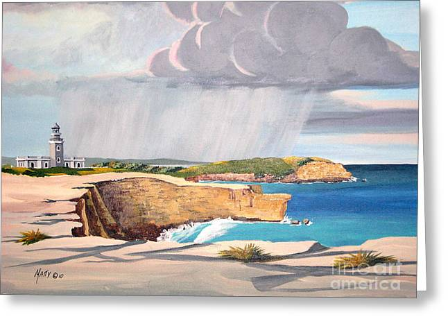 Cabo Rojo Lighthouse Puerto Rico  Greeting Card