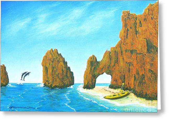Cabo San Lucas Mexico Greeting Card by Jerome Stumphauzer