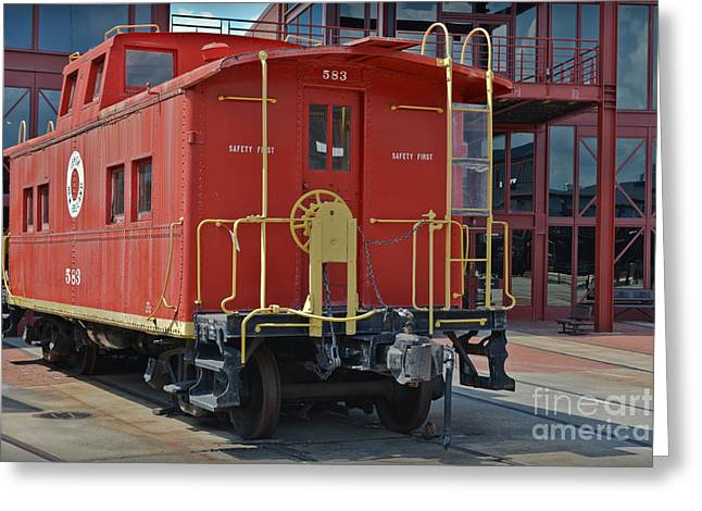 Caboose 583 Greeting Card