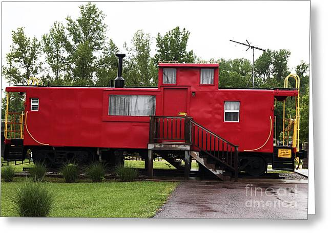 Caboose Greeting Card by John Rizzuto