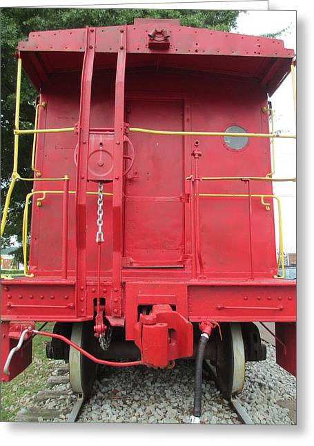Caboose Greeting Card by Randall Weidner
