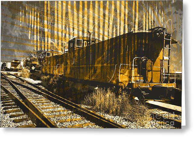 Caboose Greeting Card by Robert Ball