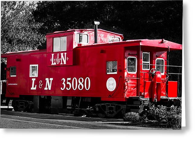 Caboose Greeting Card by Shelby  Young