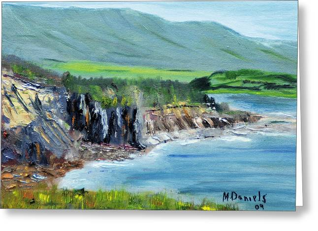 Cabot Trail Coastline Greeting Card by Michael Daniels