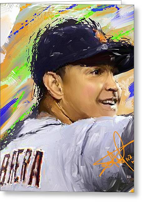 Cabrera Wins Triple Crown Greeting Card by Donald Pavlica