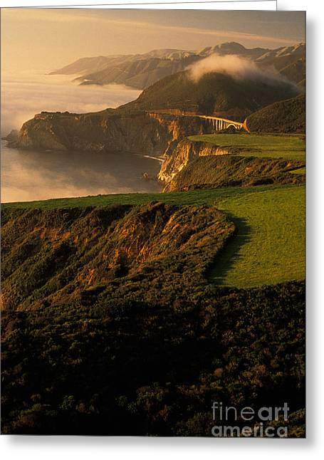 Cabrillo Highway, Pacific Coast Greeting Card by Ron Sanford