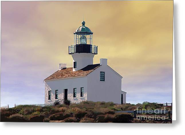Cabrillo Lighthouse Greeting Card