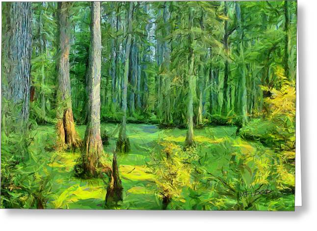 Cache River Swamp Greeting Card by Michael Flood