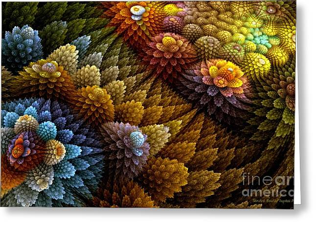Cactus Garden Greeting Card by Sandra Bauser Digital Art