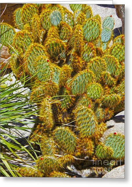 Cactus Greeting Card by Gregory Dyer