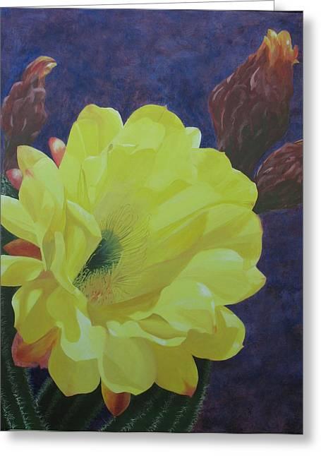 Cactus Morning Greeting Card by Janis Mock-Jones