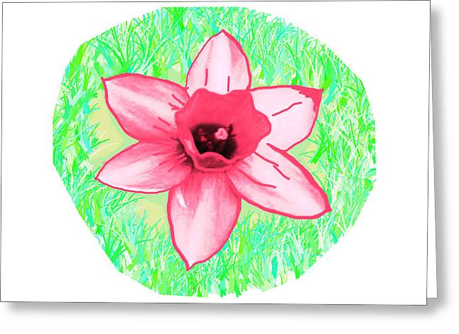 Cactus Pink Flower  Created By Navinjoshi Artist Greeting Card