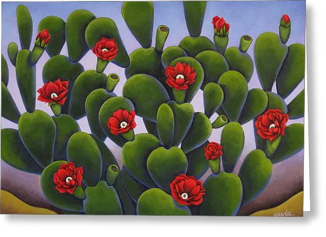 Cactus Roses Greeting Card