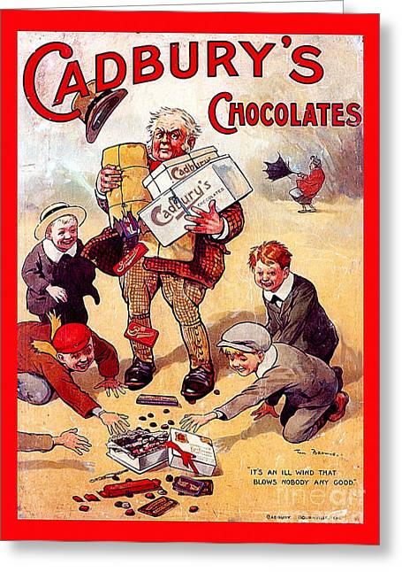 Cadburys Chocolates Ad Poster Greeting Card
