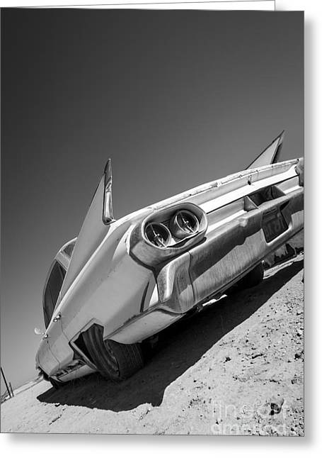 Caddillac Dreams Black And White- Metal And Speed Greeting Card
