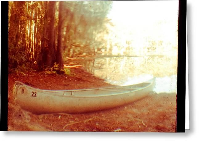 Caddo Canoe Greeting Card by Sonja Quintero