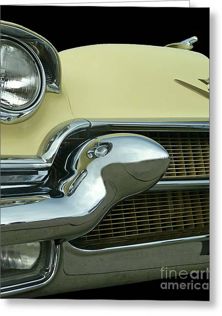 Greeting Card featuring the photograph Caddy Classic Yellow-1 by Cheryl Del Toro