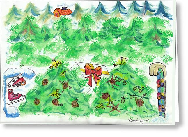 Plaisirs D'hiver / Winter Gifts Greeting Card