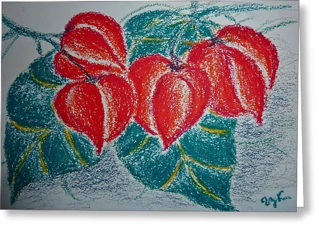 Cadena De Amor Greeting Card