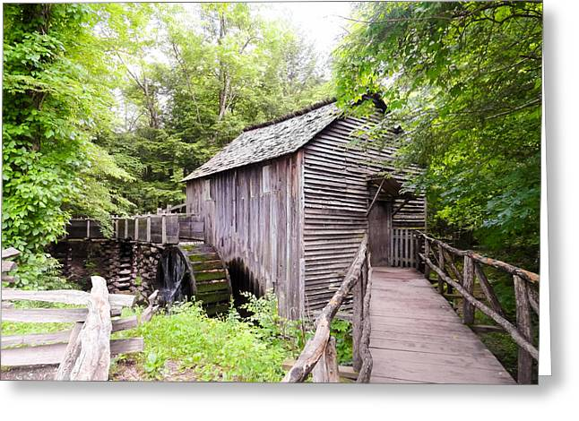 Cades Cove Cable Mill Greeting Card by Cynthia Woods