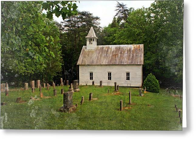 Cades Cove Church Greeting Card by Marty Koch