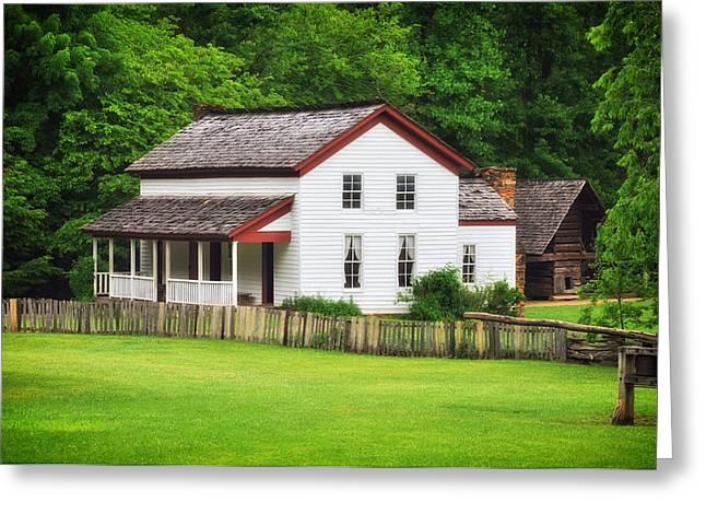 Cades Cove Farmhouse Greeting Card by Mountain Dreams