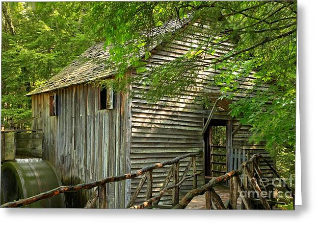 Cades Cove Grist Mill Greeting Card by Adam Jewell