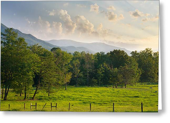 Cades Cove Greeting Card by Melinda Fawver