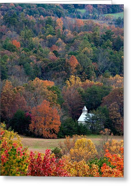 Greeting Card featuring the photograph Cades Cove Methodist  Church by Tyson and Kathy Smith