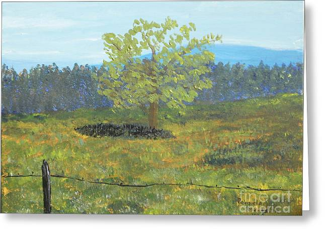 Greeting Card featuring the painting Cades Cove by Pamela  Meredith