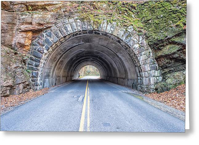Cades Cove Road Tunnel Greeting Card