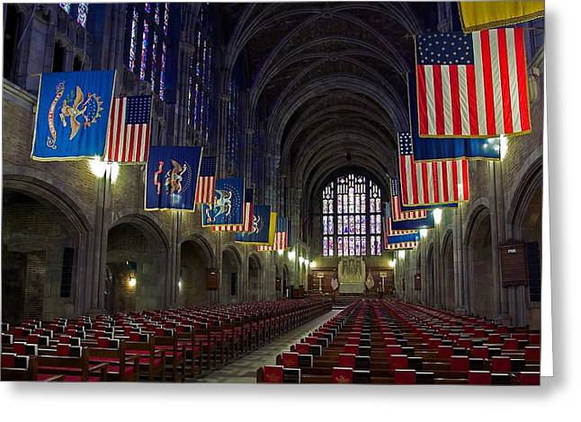 Cadet Chapel At West Point Greeting Card