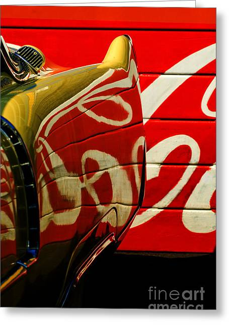 Cadillac And Coke Greeting Card
