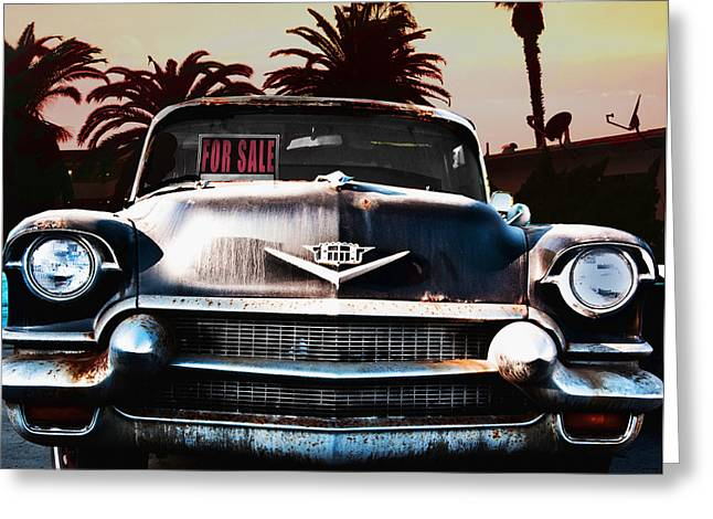 Cadillac Blues Greeting Card by Larry Butterworth