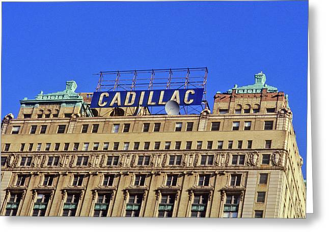 Cadillac Building In Downtown Detroit Greeting Card