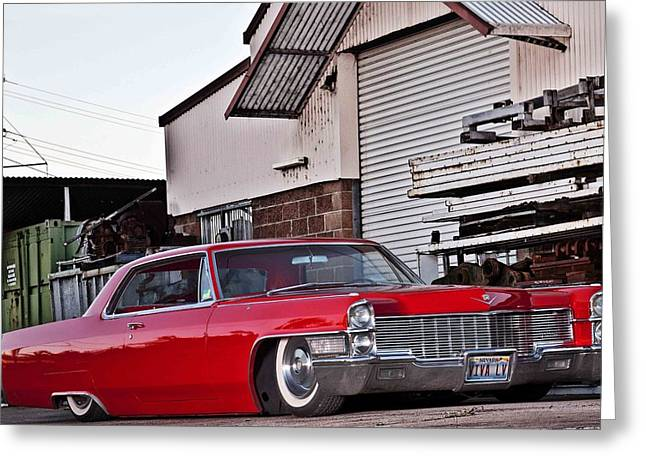 Cadillac Coupe De Ville 1965 Greeting Card
