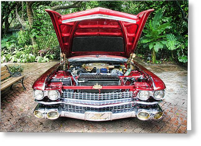 Cadillac Engine Greeting Card by Rudy Umans