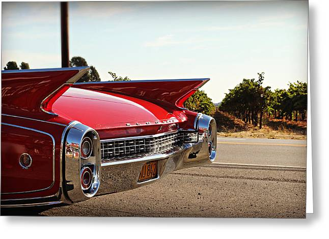 Cadillac In Wine Country  Greeting Card