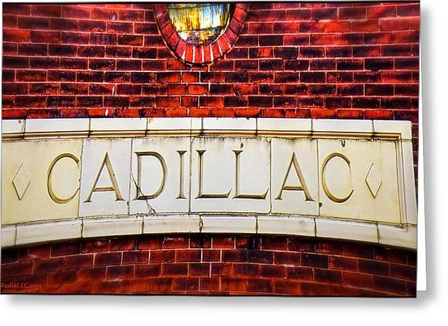 Cadillac Greeting Card by LeeAnn McLaneGoetz McLaneGoetzStudioLLCcom