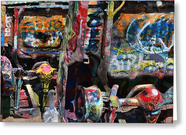 Cadillac Ranch Abstract Greeting Card