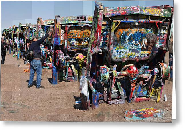 Cadillac Ranch Oblique Greeting Card