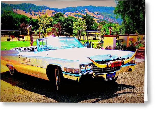Cadillac Supreme Greeting Card by Jodie  Scheller