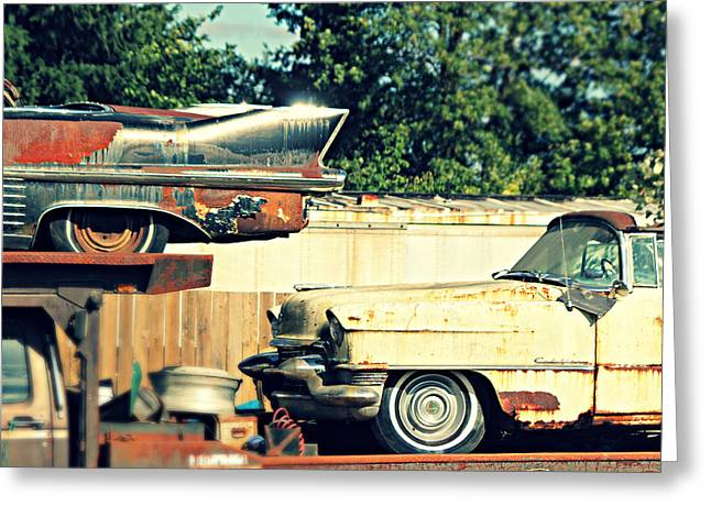 Cadillacs In Decay Greeting Card