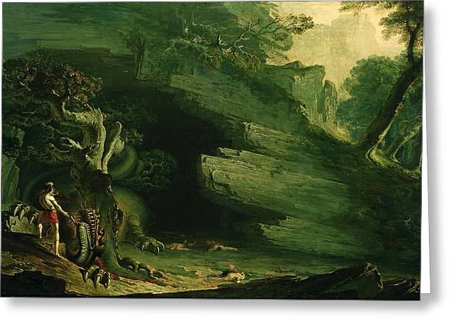 Cadmus And The Dragon  Greeting Card by John Martin