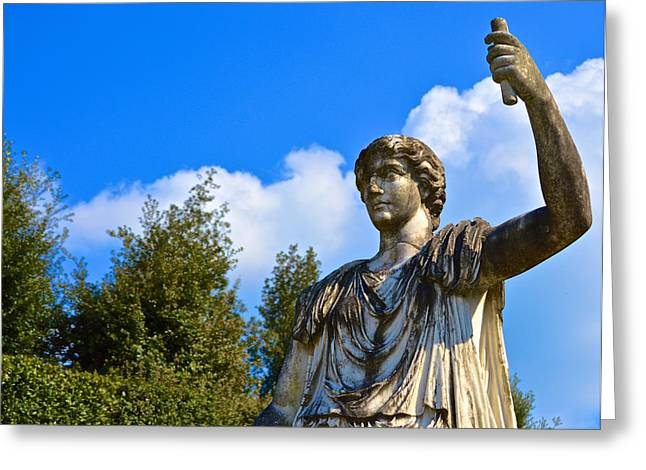 Caesar On Blue Sky Greeting Card
