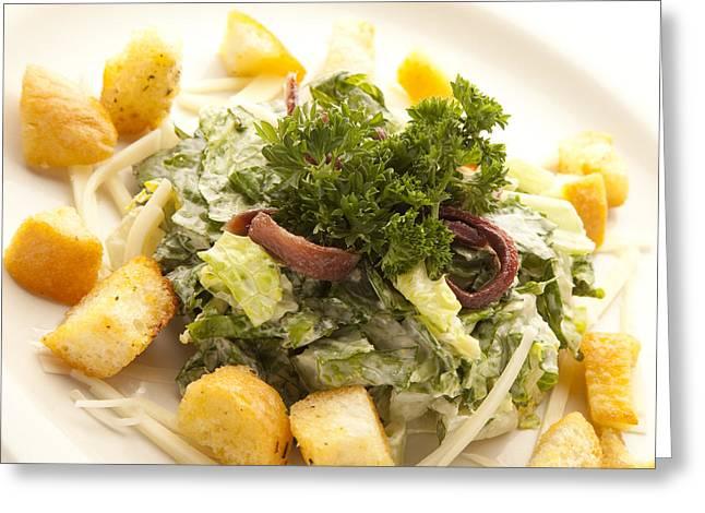 Caesar Salad Greeting Card