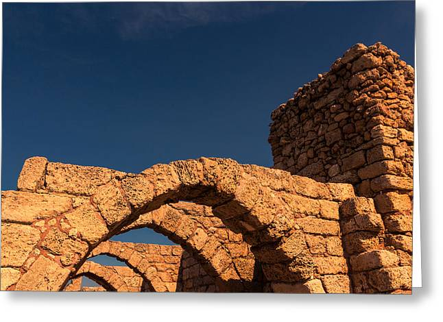 Caesarea Greeting Card by David Gleeson